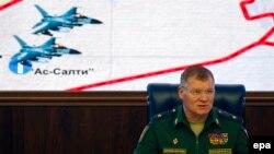 Представитель Минобороны России Игорь Конашенков делает заявление для прессы. Москва, 20 октября 2016 года.