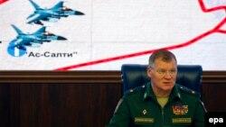 Ігор Конашенков розказує про «бельгійські літаки» на брифінгу в Москві, 20 жовтня 2016 року