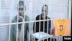 Станислав Клых во время суда в Грозном