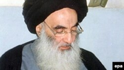 Iraq's top Shi'ite cleric, Grand Ayatollah Ali Sistani, undated