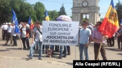 La un protest al fermierilor în Chișinău