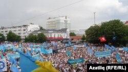 Ukraine/Crimea -- Crimean Tatars mark 69th anniversary of deportation, Simferopol, 18May2013