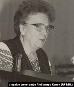 Ярослава Стецько на зборах Конгресу українських націоналістів (КУН) у Києві, 1995 рік