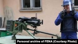 Demonstracija nove granate koju je proizvela kompanija BINAS iz Bugojna.