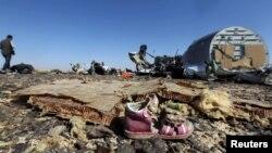 Mesto nesreće aviona Erbas 321, Sinajsko poluostrvo, 1. novembar 2015.