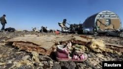 На месте падения обломков российского лайнера А321