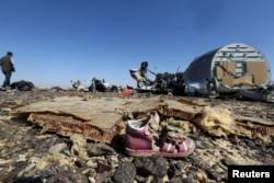 Место катастрофы самолета А-321 компании Metrojet. 31 октября