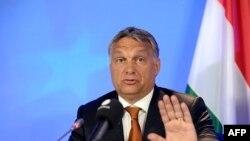 Wengriýanyň premýer-ministri Wiktor Orban Brýusselde geçirilýän ýygnaga gatnaşýar. 4-nji sentýabr, 2015 ý.