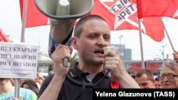 Russian opposition activist Sergei Udaltsov (file photo)