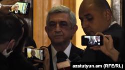 Бывший президент Армении Серж Саргсян, Ереван, 16 апреля 2020 г.