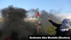 Очередная акция протеста на границе Израиля и сектора Газа, 22 февраля 2019 года.