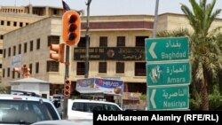 أحد شوارع مدينة البصرة