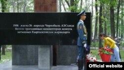 Чернобыль апаатынын курмандыктарын эскерүү. Бишкек, 26-апрель, 2015-жыл.