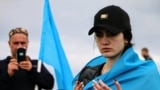 Crimea - Crimean Tatars climb on Mount Chatyr-Dag in memory of deportation victims, 13May2018