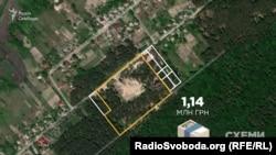 А в селі Тарасівка під Києвом у Лавренюк ще вісім земельних ділянок