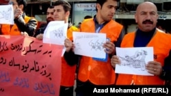 عدد من الصحفيين المحتجين