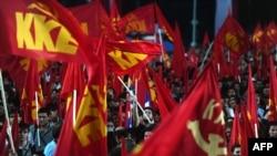 هواداران حزب کمونیست در یونان