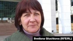 Наталья Абент, сестра адвоката из Балхаша Зинаиды Мухортовой. Астана, 17 апреля 2014 года.