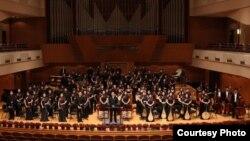 Кинескиот оркестар на Централниот музички конзерваториум од Пекинг.