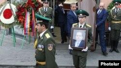 Похороны бывшего директора СНБ Георгия Кутояна, Ереван, 20 января 2020 г.