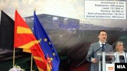 """Премиерот Никола Груевски присуствуваше на почетокот на изградбата на фабрика за автобуси од белгиската компанија """"Ван Хол"""""""