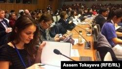 На конференции ООН по правам женщин. Нью-Йорк, 9 марта 2015 года.