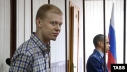 Владимир Подрезов в зале суда. Москва, 10 сентября 2015 года.