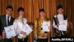 Бәйге җиңүчеләре сулдан уңга: Вилнур Адилов, Артур Максимов, Эдуард Никитин, Илшат Сәлимгәрәев