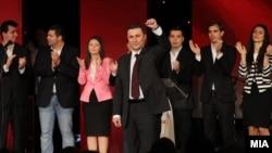 Премиерот Никола Груевски зборува на Конвенцијата на УМС на ВМРО-ДПМНЕ во Скопје на 9 јуни 2013.