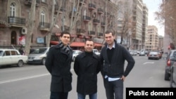 Powerful Turkey party leaders Rudi Meral, Tuna Beklevic, and Baybars Orsek (left to right) in Yerevan on a previous visit