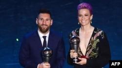 Lionel Messi və Megan Rapinoe