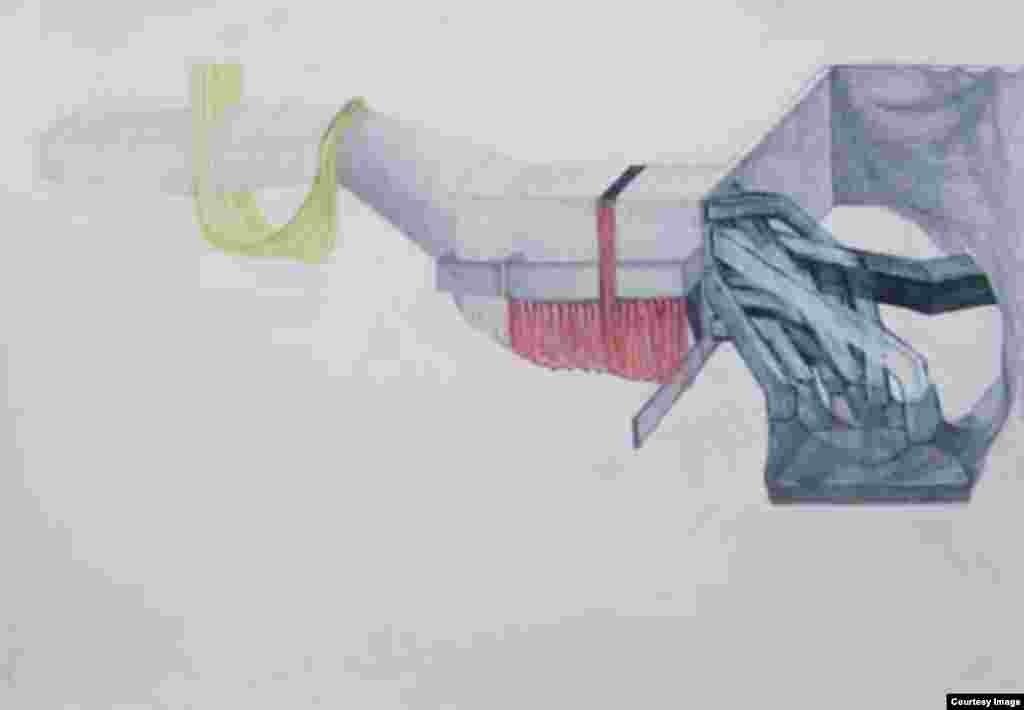 უსათაურო რუხი ფერი. 2004 წელი. 72x102 ნახშირი ქაღალდზე.