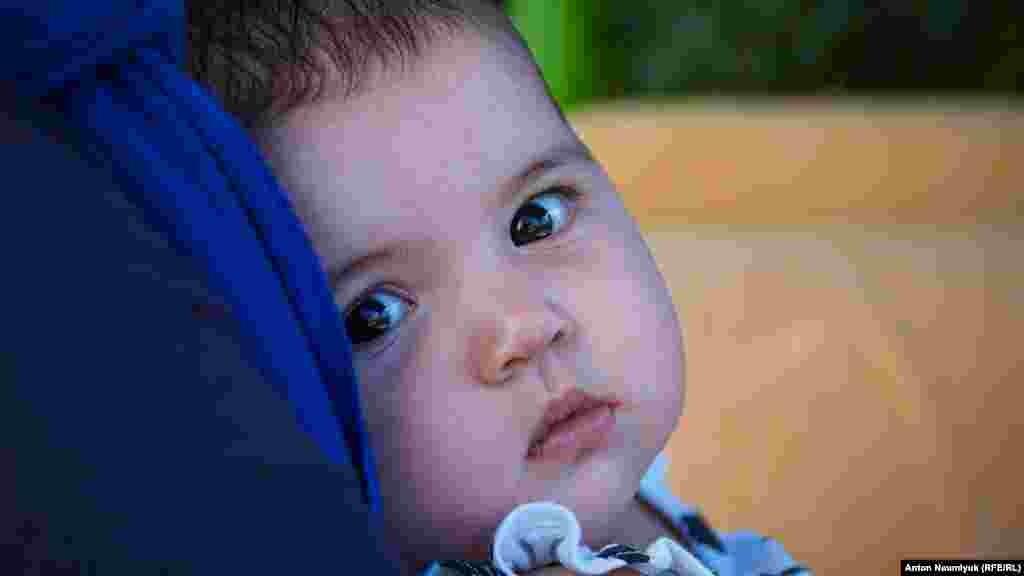 Самая младшая дочь Мустафаевых Наджие.Ей было всего три месяца, когда арестовали отца