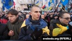 Акцыя пратэсту ля Вярхоўнай Рады Ўкраіны