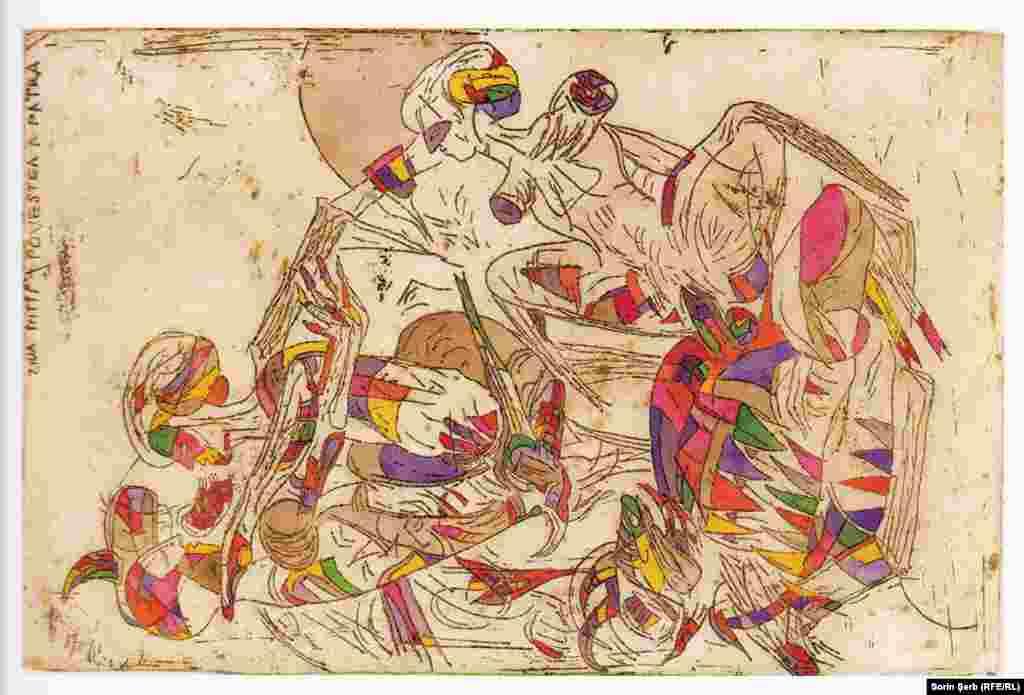 Petre Russu, Decameronul, gravură color