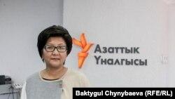 Экс-министр труда и социального развития Кыргызстана Таалайкуль Исакунова. Архивное фото.