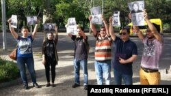 Jurnalistlərin səfirlik önündə aksiyası - 27 may 2015
