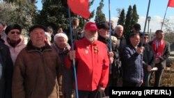 Комуністи проводять мітинг в Севастополі проти соціальної політики російської влади. 23 березня 2019 року