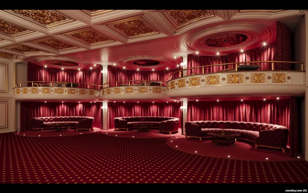 Цифрова візуалізація зали театру в палаці