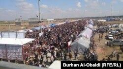 جانب من إعتصام محافظة الأنبار