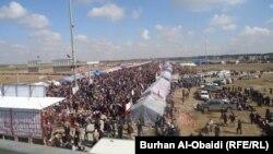 متظاهرون في الانبار