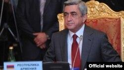 Президент Армении Серж Саргсян принимает участие в саммите СНГ (архив)