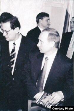 Иван Арцишевский с с Владимиром Путиным. Из архива И.С.Арцишевского