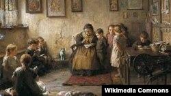Фрэдэрык Джордж Котман, «Школа старой дамы» (1887).