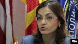 Министерката за внатрешни работи Гордана Јанкулоска