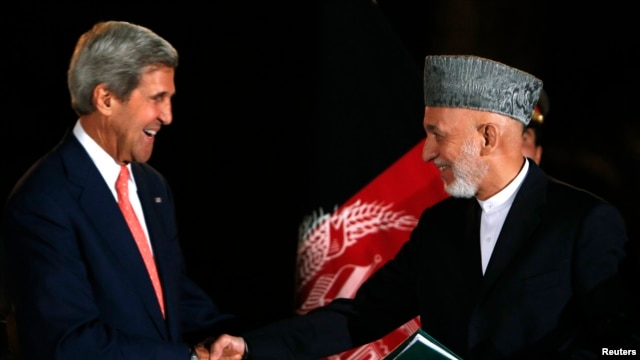 In addition to the two candidates, U.S  Secretary of State John Kerry (left) will meet with Afghan President Hamid Karzai in Kabul.