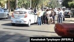 Жаяу жүргінші зардап шеккен жол-көлік апаты. Алматы, 26 қыркүйек 2013 жыл.