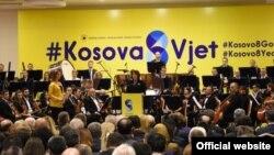 Presidentja e Kosovës, Atifete Jahjaga në pritjen zyrtare me rastin e tetëvjetorit të pavarësisë së Republikës së Kosovës