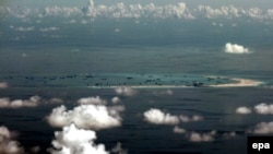 Искусственные острова, созданные Китаем в спорных водах Южно-Китайского моря.