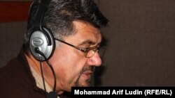 Abdul Razaq Mamoon during a call-in-show in Radio Free Afghanistan's Kabul Bureau on January 15